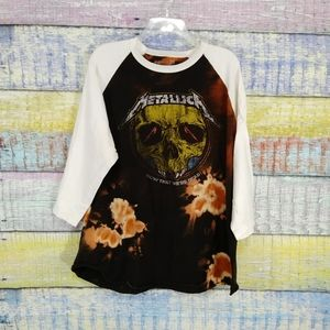 Metallica World Wired Tour raglan tee size 2X